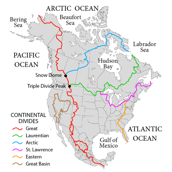 Continental Divide Trail Im Jack Haskel - Us drainage basins map