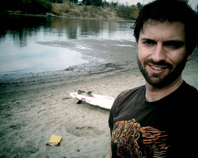 Paddling the lower American River on a lazy Saturday.