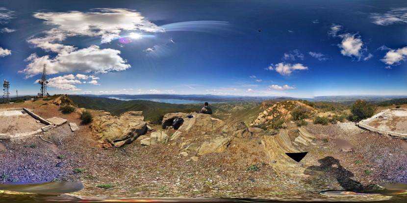 The top of Berryessa Peak