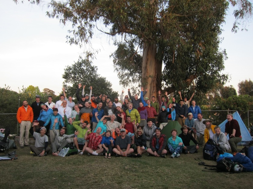 The crowd of fun hikers that the San Diego network hosted just before KO.