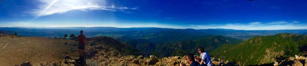 The summit of Mt. Saint Helena.
