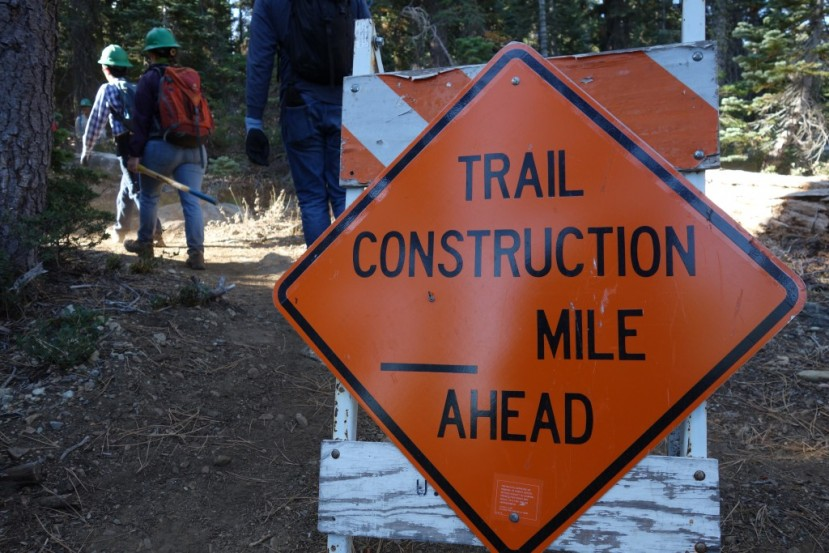 Building a new section of the Pacific Crest Trail in the Sierra Buttes area.